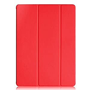 KHOMO iPad Pro Case 12.9 Inch - DUAL Red Super Slim Cover with Rubberized back and Smart Feature (Built-in magnet for sleep / wake feature) For Apple iPad Pro 12.9'' Tablet ... from KHOMO