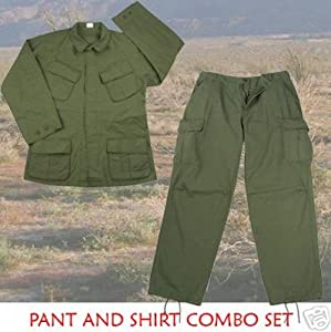 Rothco Vintage Vietnam Olive Drab Green Fatigue Shirt & Pants [Misc.]
