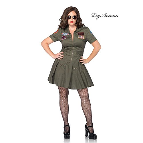 Leg Avenue Women's Plus-Size Licensed Top Gun Flight