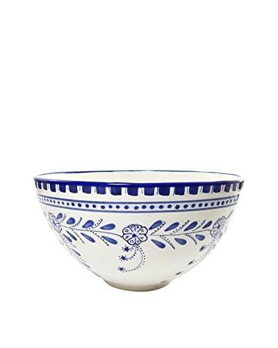 Le Souk Ceramique Azoura Deep Salad Bowl, Blue/White