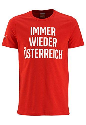 Puma Österreich Kinder Shirt rot/weiß
