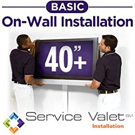 Service Valet Basic On-Wall TV Mounting and Installation for TVs 40-inches or Larger