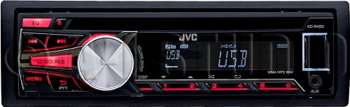 Jvc Kd-R450 In-Dash Cd/Mp3/Wma/Usb Car Headunit Receiver W/ Ipod Control & Remote Control