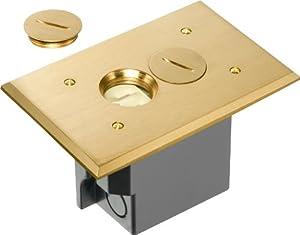 Arlington flbr101mb 1 rectangular floor outlet electrical for Floor outlet cover