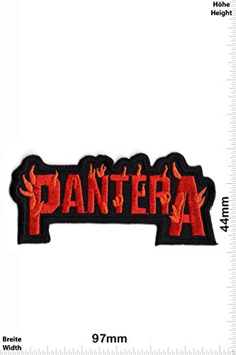 Patch - Pantera - red - MusicPatch - Rock - Chaleco - toppa - applicazione - Ricamato termo-adesivo - Give Away