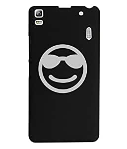 KolorEdge Back Cover For Lenovo A7000 - Black (2195-Ke15099LenovoA7000Black3D)