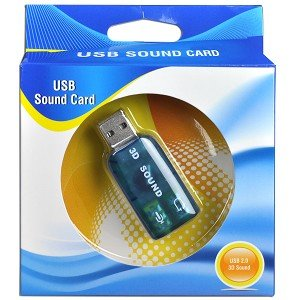 2 Channel Usb 20 External Digital Sound Adapter Plug In Headphones & Microphone Through A Usb Port!