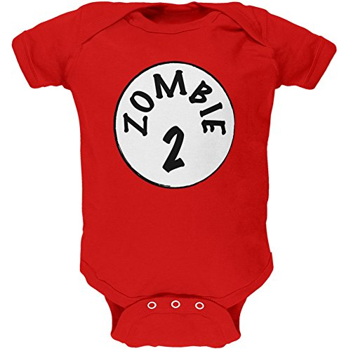 Halloween Zombie 2 Two Costume Red Soft Baby One Piece