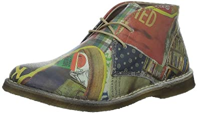 Kickers Crepy, Chaussures à lacets femme Multicolore, 36 EU
