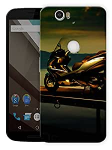 """Scooty Life Printed Designer Mobile Back Cover For """"Google Nexus 6 Plus"""" By Humor Gang (3D, Matte Finish, Premium Quality, Protective Snap On Slim Hard Phone Case, Multi Color)"""