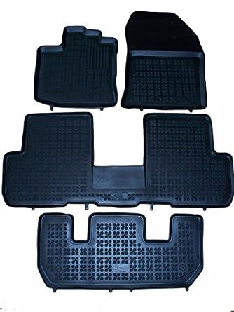 Citroen dispatch 2007-2013 sur mesure sol van tapis moquette noir mat bordure bleu