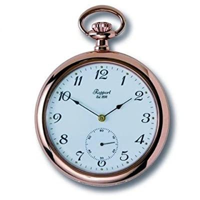 Rapport Pocket Watch PW83 Rose Gold Plated Open Face