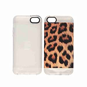 Cell Armor Snap-On Jagger Carrying Case for iPhone 5/5S - Retail Packaging - Leopard with Clear Skin