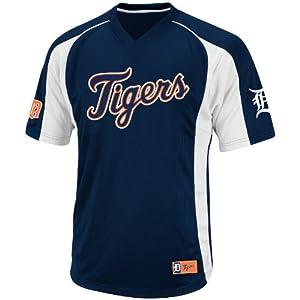 MLB Detroit Tigers Mens True Winner Crew Polo, Navy White by VF LSG