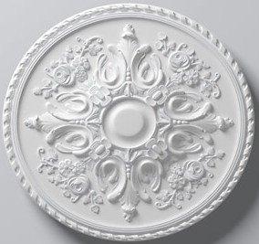 33 Inch Versailles Ceiling Medallion White Primed Polyurethane 32 5/8 Inch Diameter By Designer's Edge Millwork #D582