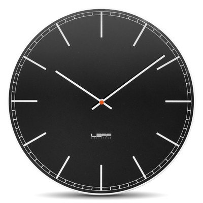 One55 Wall Clock Color: Glass/Black, Type: Index