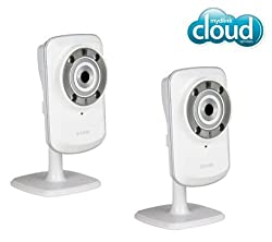 D-LINK Pack of Two DCS-932L mydlink Wireless-N Network Cameras with night vision + 2 YEARS WARRANTY