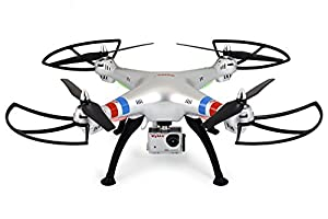 Syma X8G Headless 2.4Ghz 4CH RC Quadcopter with 8MP HD Camera (Silver)