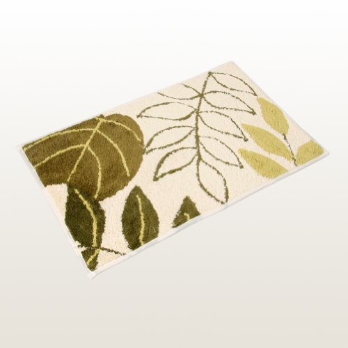 Naomi - [Casual Leaves] Beautiful Home Rugs (19.7 by 31.5 inches)