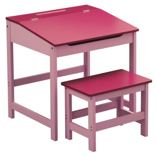 Premier-Housewares-Kinder-Schreibtisch-Set-mit-Tisch-und-Stuhl-57-x-55-x-48-cm-2-teilig-blau--PARENT-Pink