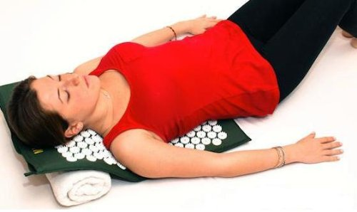 Acupressure Mat | Acupuncture Mat for Back Pain Relief | #1 Back Pain Treatment | (nail bed or spike mat) (Green)