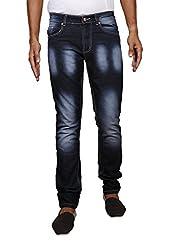 John Wills Men's Slim Fit Jeans (MCR1012--34, Black, 34)