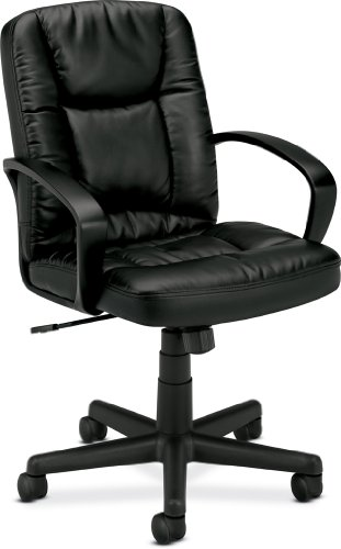 HON HVL171 Executive Mid-Back Chair for Office or Computer Desk, Black