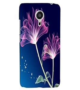 ColourCraft Lovely Flowers Design Back Case Cover for MEIZU MX5