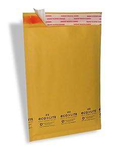 "Ecolite Kraft Bubble Mailer, #0, 6.5"" x 9"", Pack of 250"
