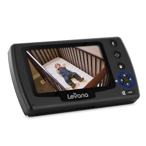 levana ovia digital baby video monitor with talk to baby intercom and sd recording black white. Black Bedroom Furniture Sets. Home Design Ideas