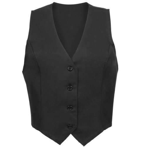 Fame Women's Tailored Vest - Female-Black-Small (Food Service Clothing compare prices)