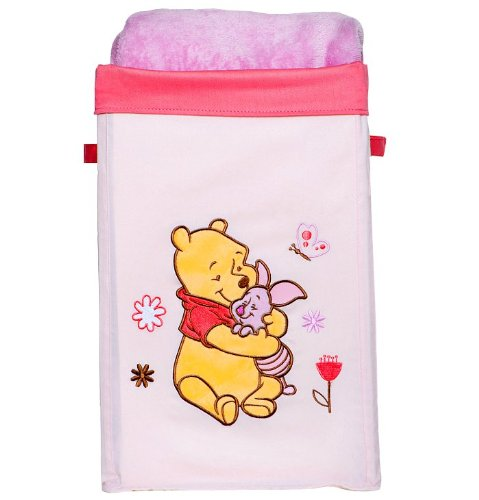 Winnie the Pooh Collapsible Canvas Storage Bin - Pink - 1