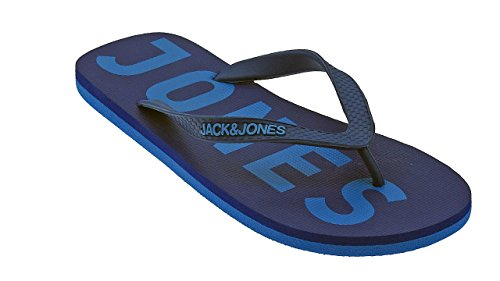JACK JONES - Infradito da uomo logo rubber 40/41 azzurro
