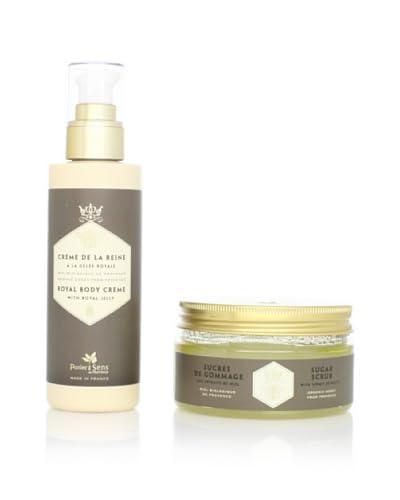 Panier des Sens Organic Honey Body Crème and Sugar Scrub, Set of 2
