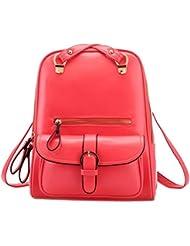 Tinksky® Vintage Retro British Wind Shoulders Bag Fashion Girls Student Backpack School Bag (Dual U