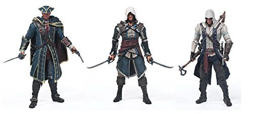 "McFarlane Toys Year 2013 Series 1 ""Assassin's Creed IV Black Flag"" 6 Inch Tall Action Figures Includ :EDWARD KENWAY, CONNOR, HAYTHAM KENWAY"
