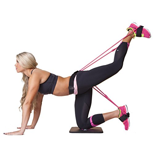 The Booty Belt System - Exercise and Workout Fitness Resistance Bands For Glutes, Legs, and Abs ...