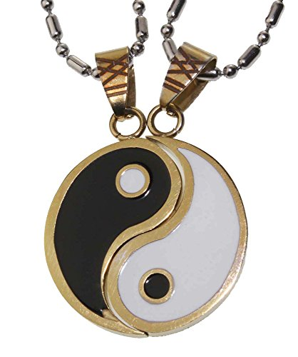 Yin and yang necklace 2 piece storeiadore for Do pawn shops buy stainless steel jewelry