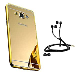 Droit Luxury Metal Bumper + Acrylic Mirror Back Cover Case For + Samsung Galaxy Core Prime Stylish Zipper Handfree and Good QualitySound by Droit Store.