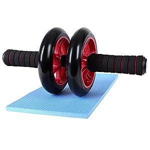 Songmics AB Roller Wheel Push Up Con Cojín Del Arrodillamiento SPU75R