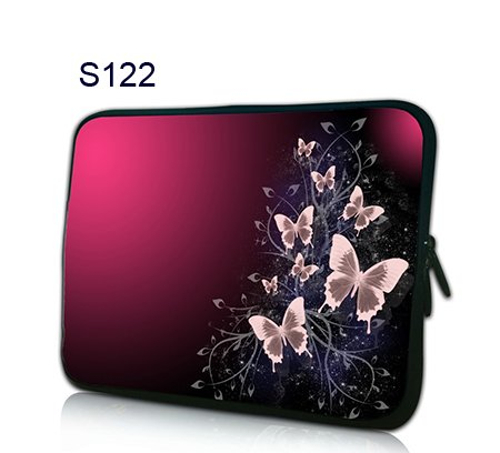 10'2 inch Netbook Sleeve beautiful pink butterfly design