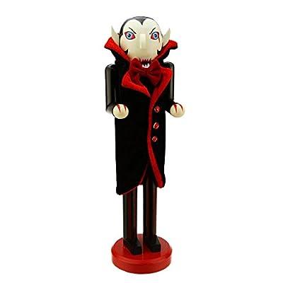 "Northlight Black and Red Dracula Vampire Decorative Wooden Halloween Nutcracker, 14"""