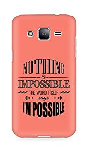 AMEZ Nothing is Impossible Back Cover For Samsung Galaxy J2