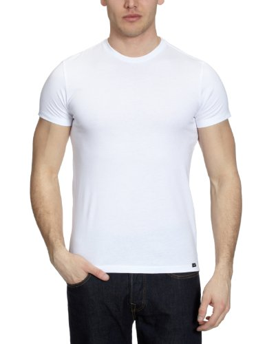 Lee Twin Pack Crew Short Sleeve-L680BC1 Plain Men's T-Shirt White Small