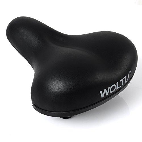 WOLTU FZ1504 Fahrradsattel Gelsattel Trekking Sattel, MTB Fahrradsitz, Damen und Herren Sattel, schwarz