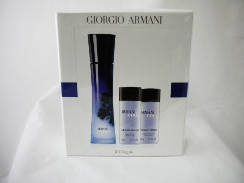 Armani Code by Giorgio Armani for Women Gift Set: Eau De Parfum 2.5 oz + Body Lotion 1.7 oz + Shower Gel 1.7 oz