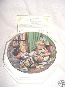 "The Danbury Mint M I Hummel Little Companions Series ""Budding Scholars"" Collector Plate"