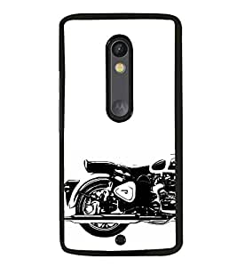 iFasho Royal Bike Back Case Cover for Moto X Play