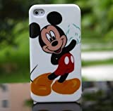 iPhone 4G/4S Mickey Mouse Style Hard Case/Cover/Protector,White