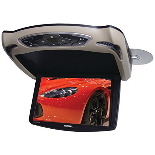 Ssl S13.3C3 Mobile-Video Flip-Down 13.3-Inch Screen Monitor Dvd/Cd/Usb/Sd/Mp4/Mp3 Player With Remote